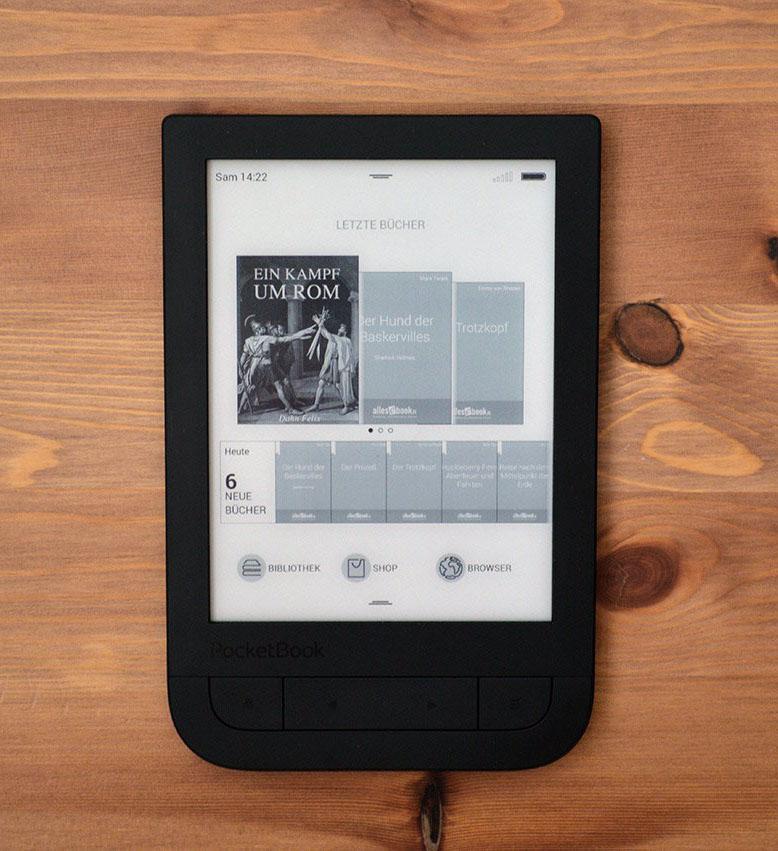 Pocketbook 631 Touch HD strona główna