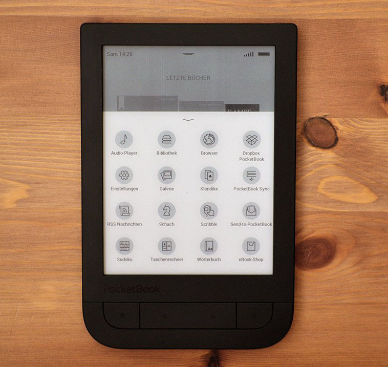 Pocketbook 631 Touch HD menu