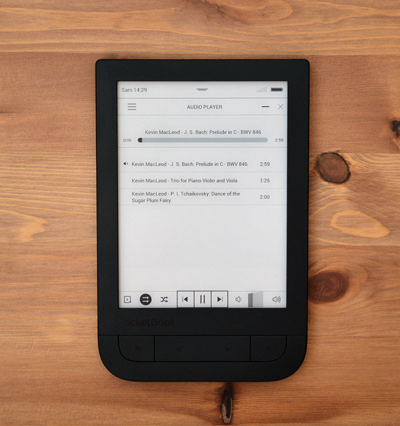 Pocketbook 631 Touch HD odtwarzacz mp3