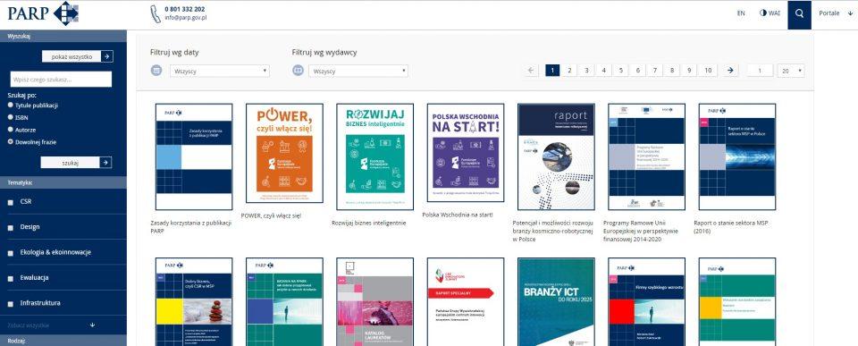Polska Agencja Rozwoju Przedsiębiorczości (PARP) - darmowe raporty i e-booki