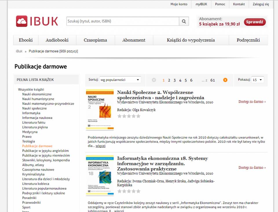 strona internetowa IBUK.pl, darmowe e-booki do ściągnięcia