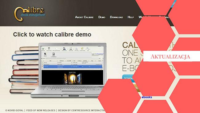Strona internetowa -Calibre , aktualizacja, biblioteka e-book