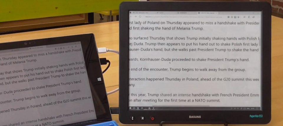Dasung, czytnik, monitor do komputera, E-Ink Carta