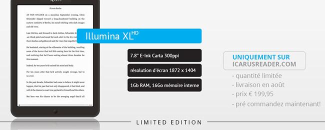 Icarus XL HD, e-czytnik, e-book, ebook reader, ebook reader pdf