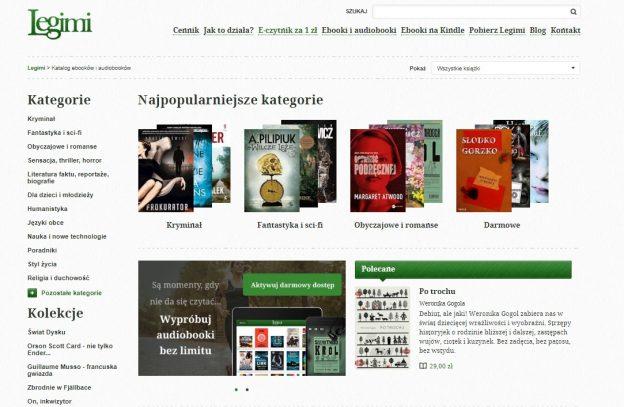 Legimi, wypożyczenie e-booków, darmowe e-booki, czytniki na książki