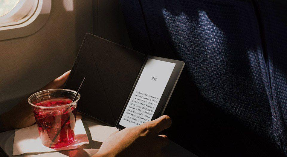 Kindle Oasis 2- nowy model od Kindle, Czytnik ebook, czytnik do czytania książek, czytanie na czytniku, ebook, ebook reader, czytnik 7 cali, czytnik z dużym ekranem.