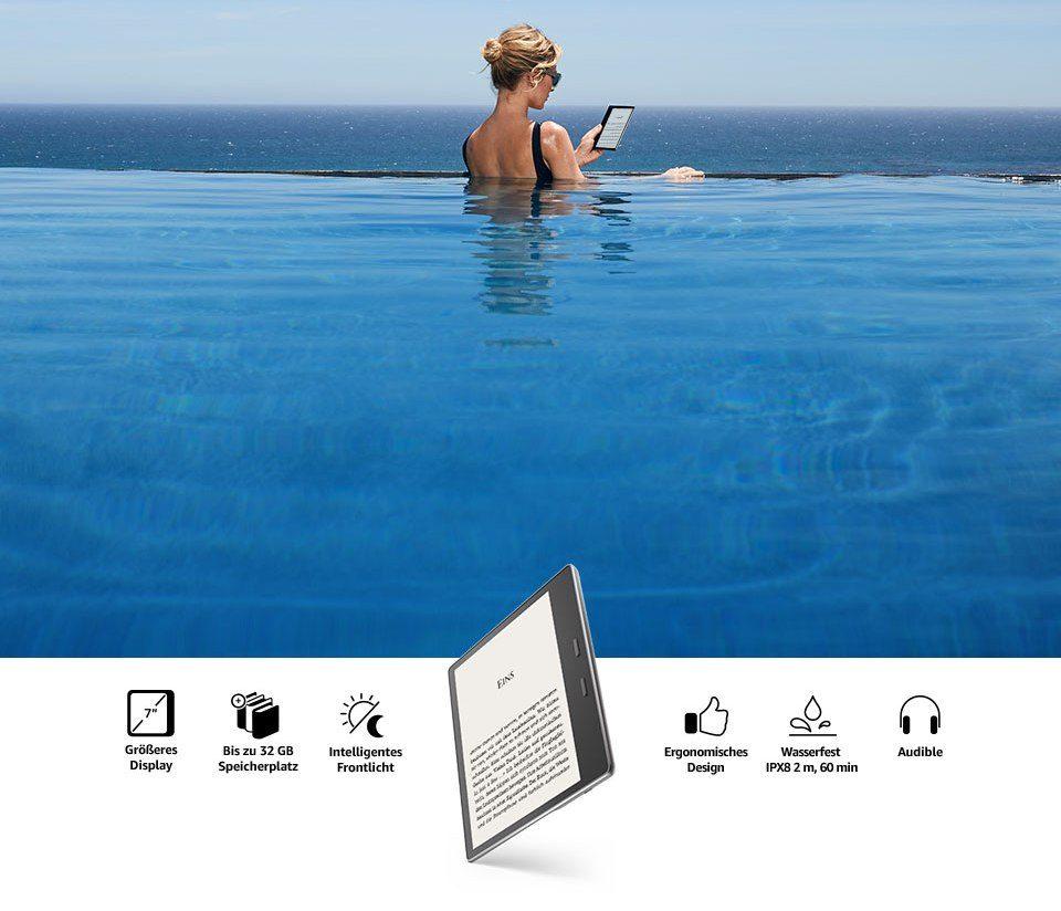 Kindle Oasis 2- wodoodporny czytnik, wyświetlacz 7 cali, nowy czytnik Kindle, czytnik do czytania książek, Oasis 2, Oasis, ebook reader
