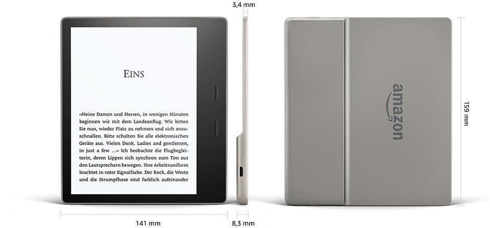 Kindle Oasis 2 wymiary, 7-calowy ekran, czytanie książek na czytniku, Nowy czytnik od Kindle, wodoodporny czytnik od Kindle, Pierwszy wodoodporny czytnik od Kindle