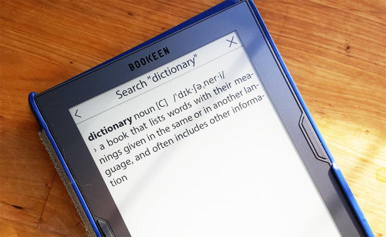 Cybook, Słownik, czytnik ebook, czytnik do czytania książek elektronicznych, ebook reader