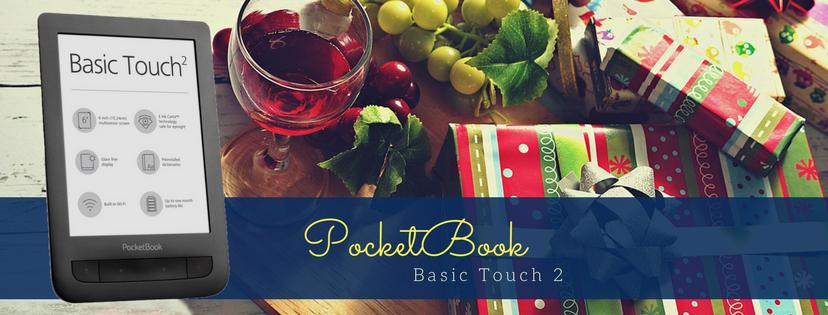 Pocketook Basic Touch 2, E Ink Carta, czytnik książek, jaki czytnik książek, prezent na święta, prezent pod choinkę, prezent na Boże Narodzenie