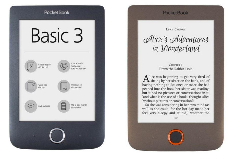 PocketBook Basic Lux, PocketBook Basic 3, ebook reader, ebook, czytnik, czytnik ebooków, czytanie książek na czytniku