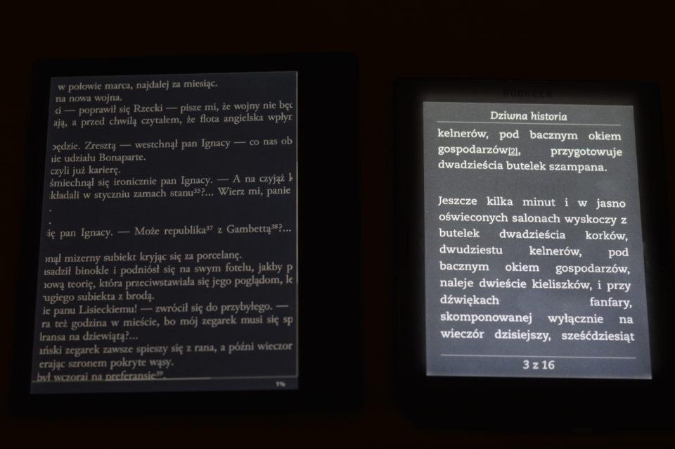 Podświetlenie negatyw Kindle Oasis 2 Cybook Muse Light