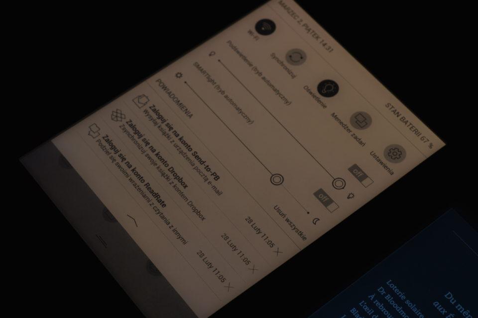Podświetlenie smartlight PocketBook InkPad 3