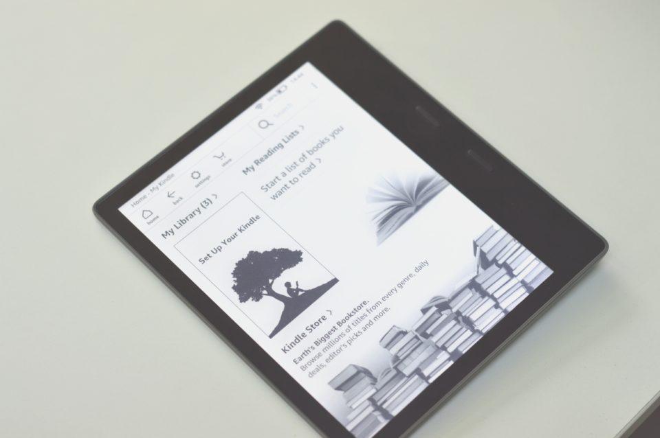 Kindle Oasis 2 ekran główny z ikonami