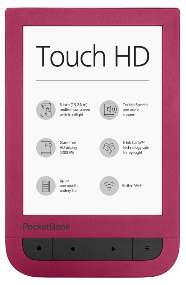 Czytnik Pocketbook 632 touch hd bordowy dla kobiet na prezent