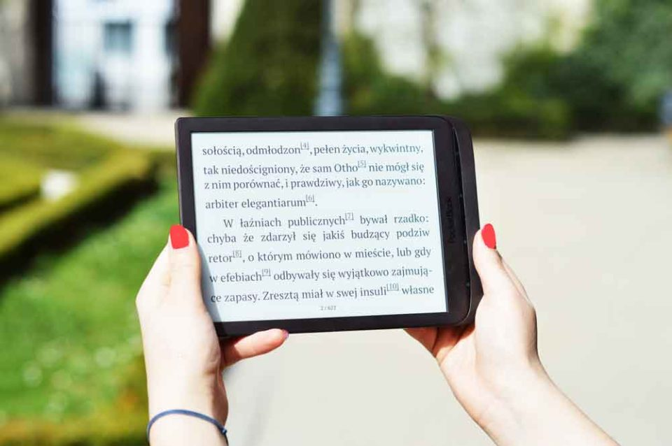 Ekran poziomo InkPad 3 rotacja