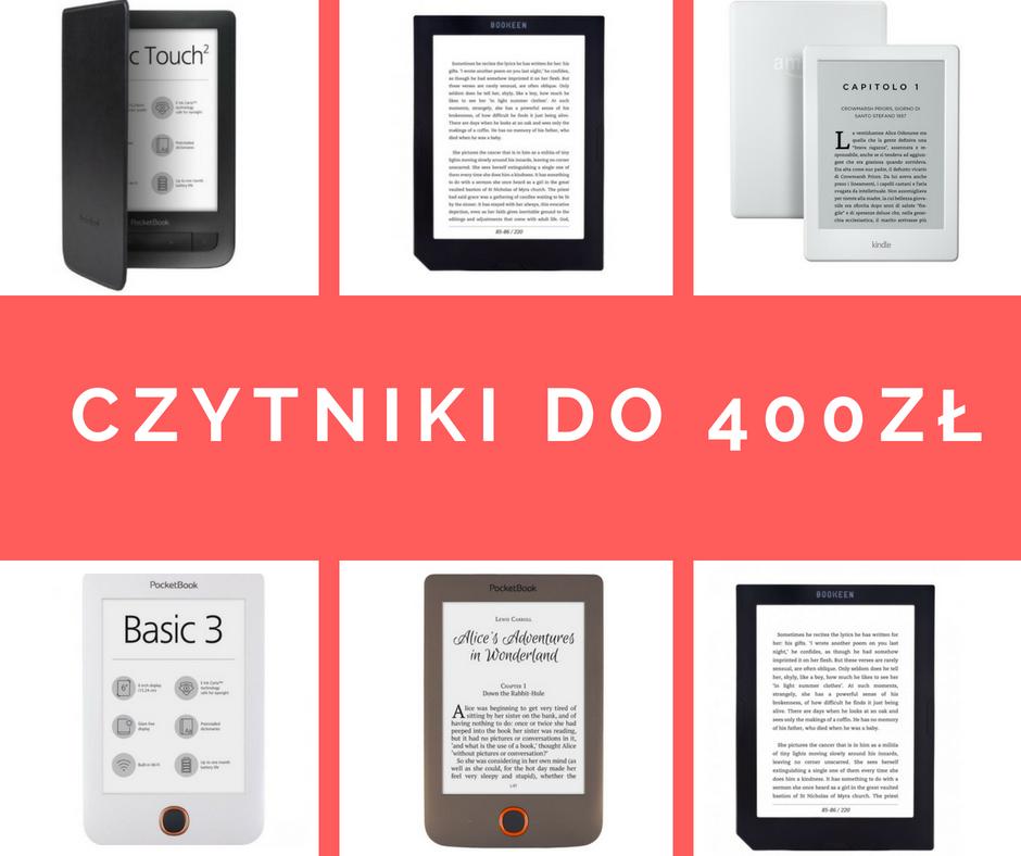 czytniki ebooków do 400 zł