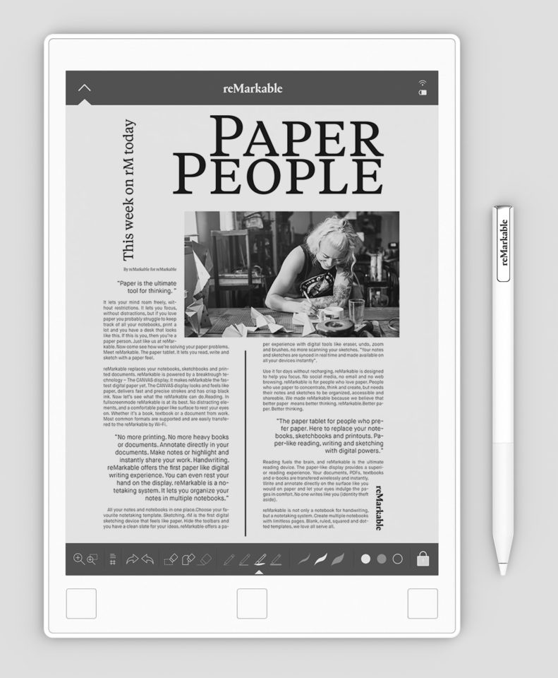 Remarkable odczyt plików pdf