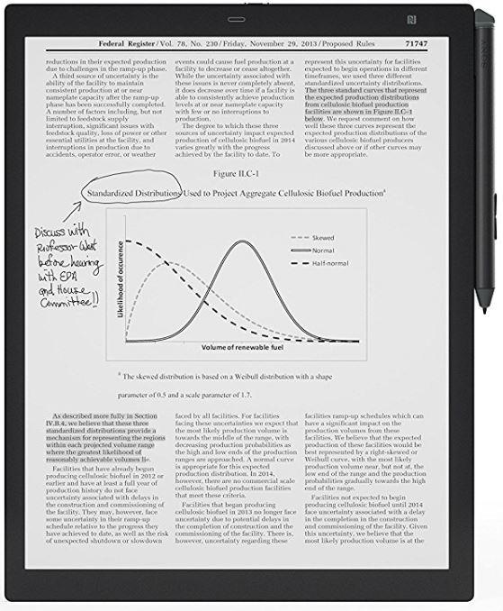 Sony-DPT-RP1 doskonały czytnik do odczytu plików w formacie PDF