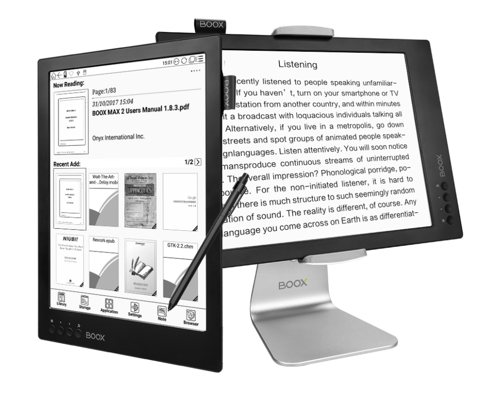 Onyx Boox Max 2 ekran monitora z ekranem EInk
