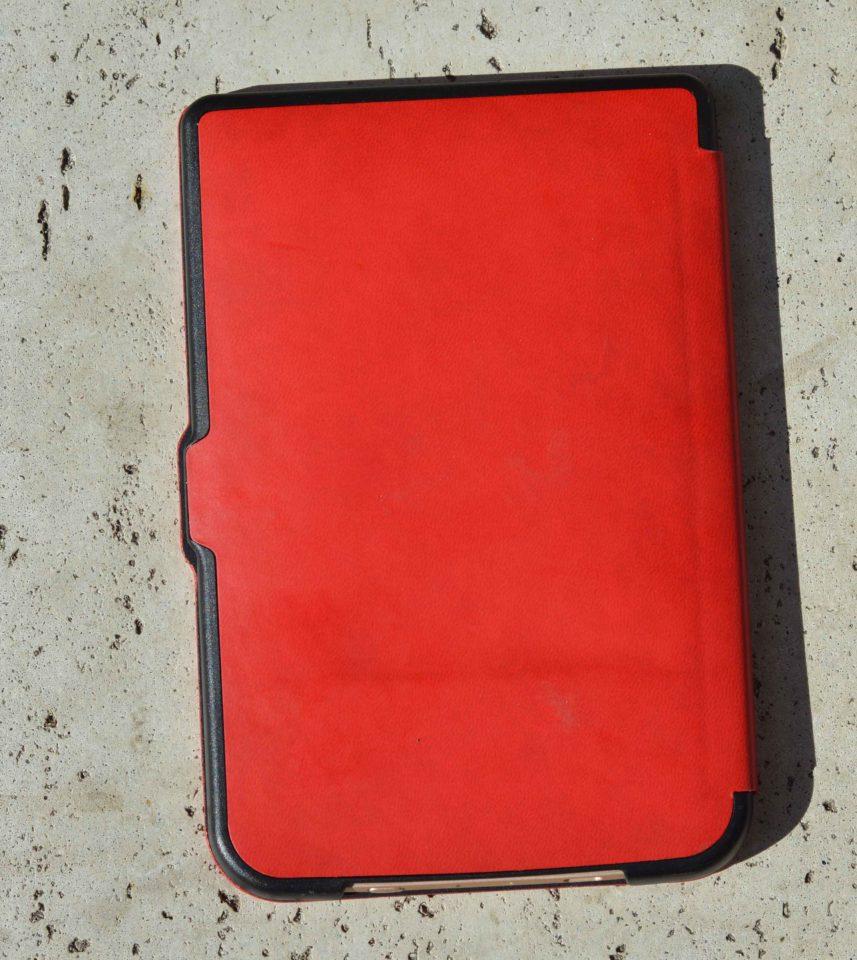 Wytrzymałe etui shell w kolorze czerwonym do czytników PocketBook 615 Basic Lux, PocketBook Basic 3, PocketBook Basic Touch oraz PocketBook 626(2) Touch Lux 3