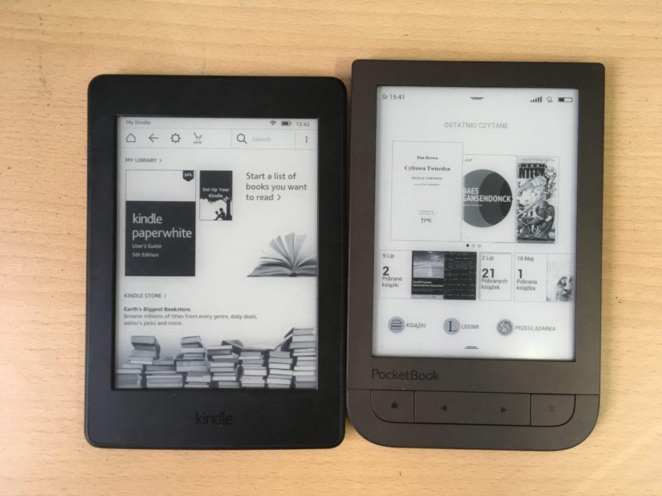 kindle paperwhite 3 i pocketbook touch hd 2 porównanie wielkość wymiary wygląd