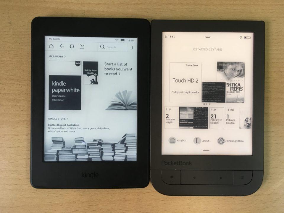 podświetlenie smartlight w pocketbook touch hd 2 w porównaniu do Kindle Paperwhite 3