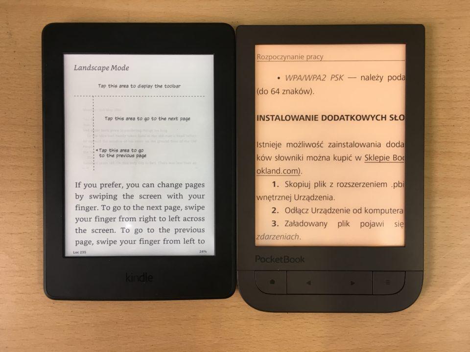 Podświetenie w czytnikach Kindle Paperwhite 3 i PocketBook Touch HD 2 smartlight