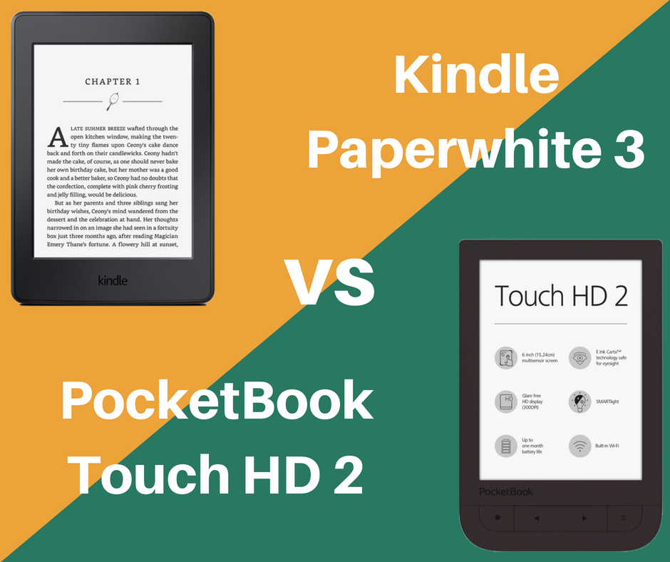 Kindle Paperwhite 3 vs PocketBook Touch HD 2 | Blog na temat