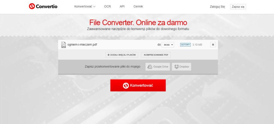 konwertowanie pdf do mobi ebook