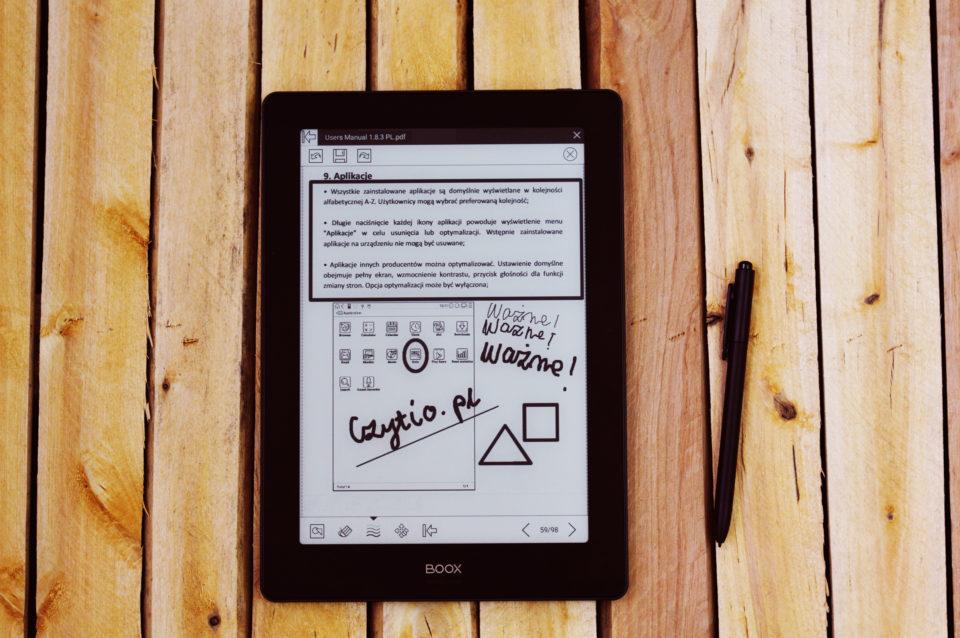 pisanie po pdf onyx boox note s