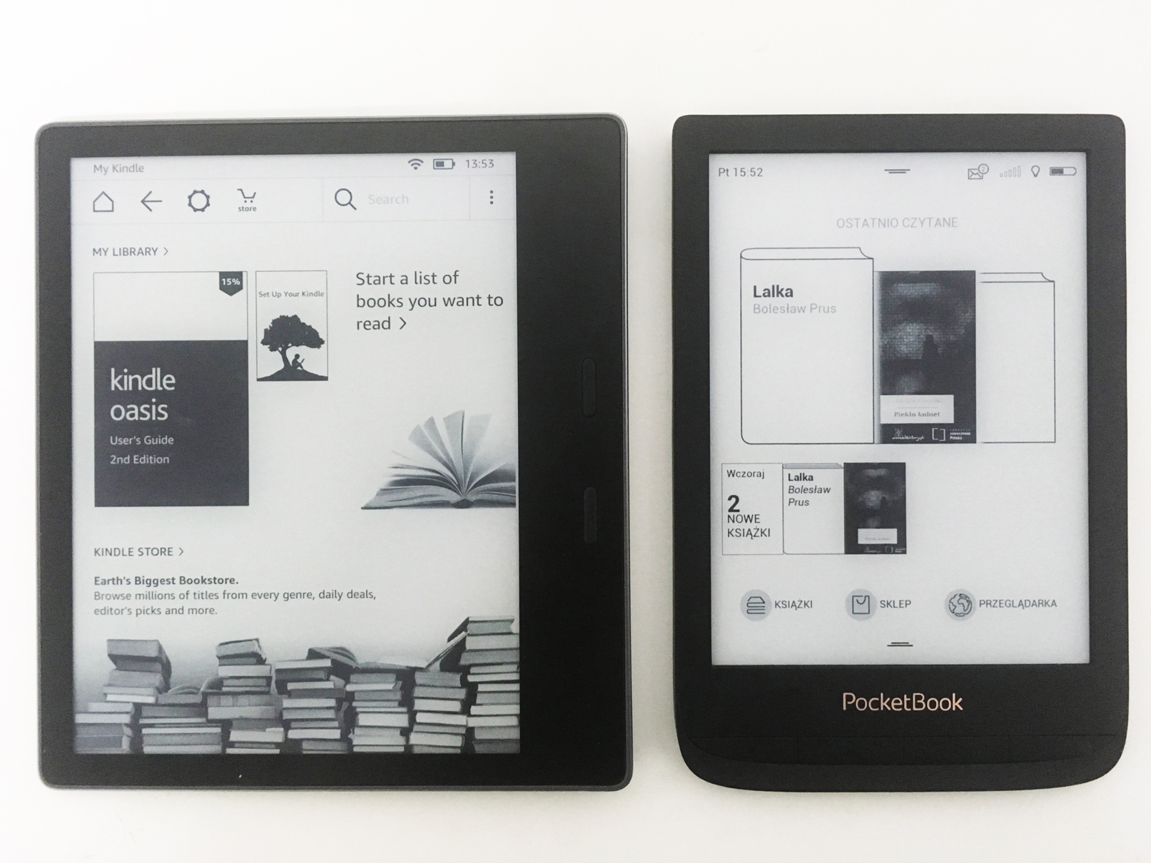 ekran główny kindle oasis 2 pocketbook touch lux 4