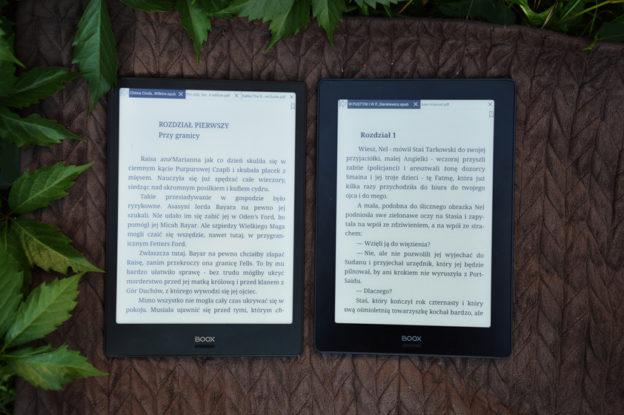 Onyx Boox Note Onyx Boox Note S porównanie czytanie ostrość ekranu