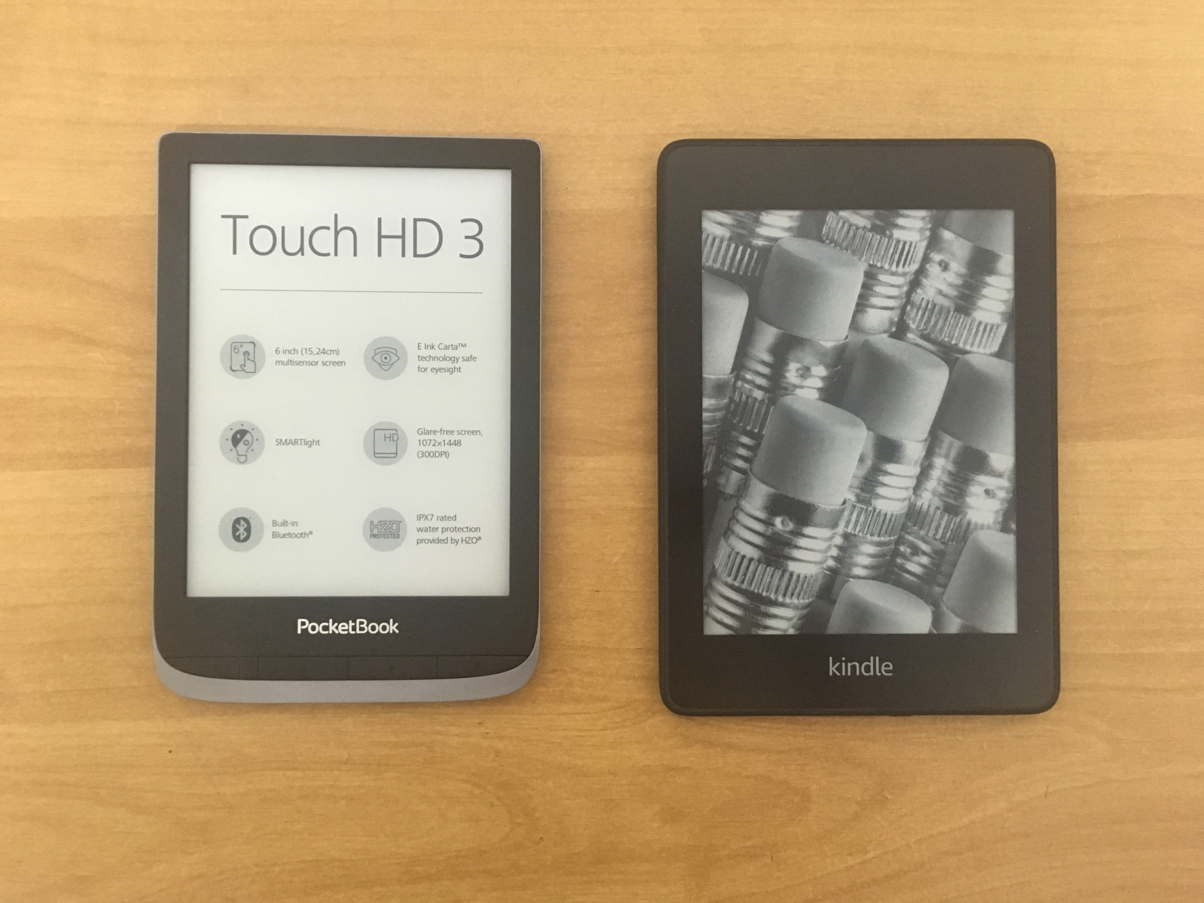 pocketbook touch hd 3 vs kindle paperwhite 4