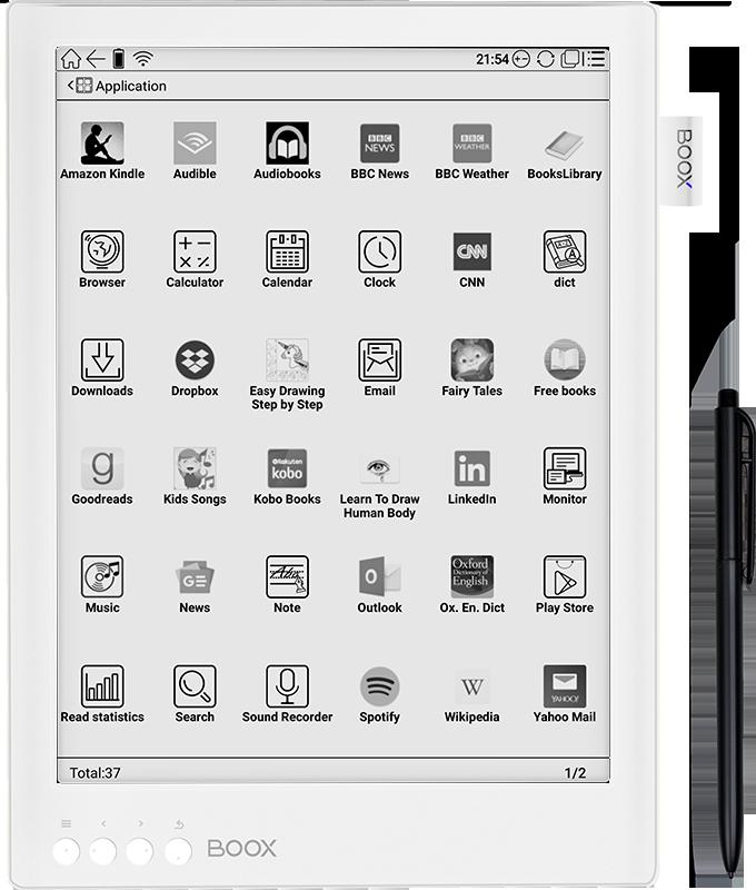 onyx boox max 2 pro aplikacje