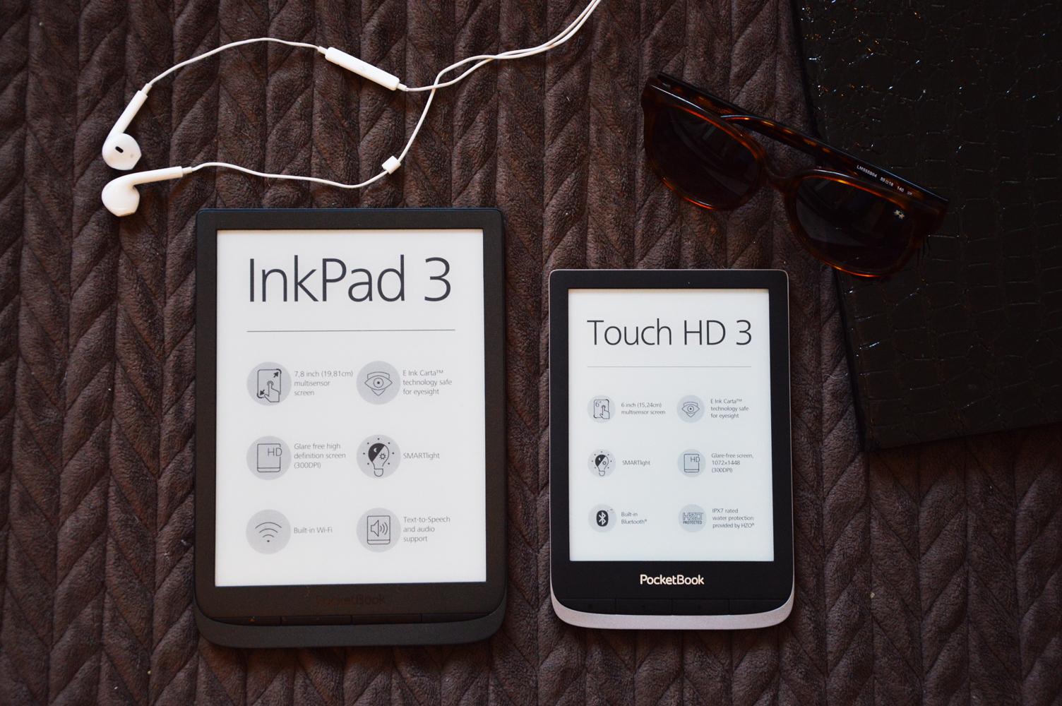 PoceetBook InkPad 3 Touch HD 3 porównanie