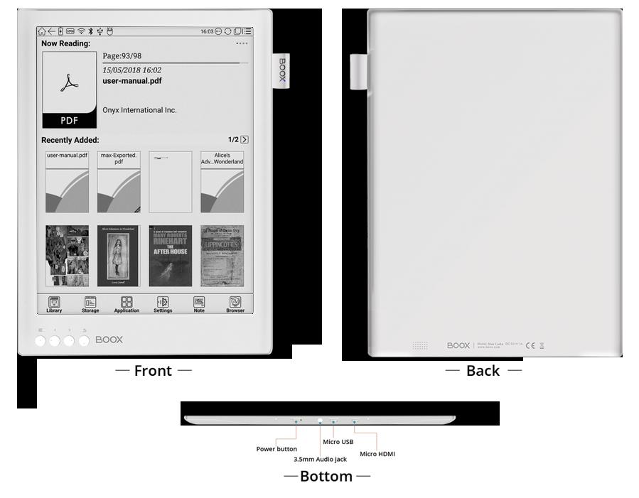 Onyx Boox Max 2 Pro duży ekran