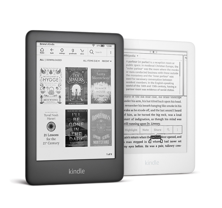 Kindle 10 czarny i biały 2019