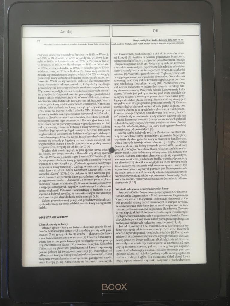 Onyx Boox Nova Pro doskonały do pdf tryb kolumnowy