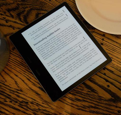 czytnik Kindle Oasis 2 wyraźny tekst i kontrast