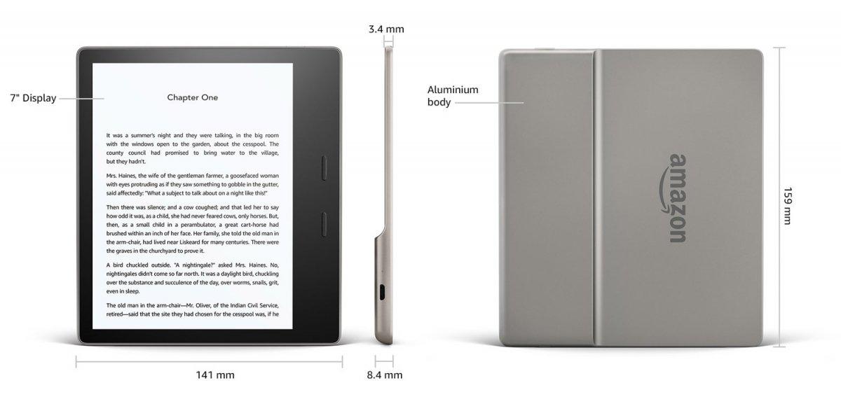 Kindle Oasis 3 wymiary