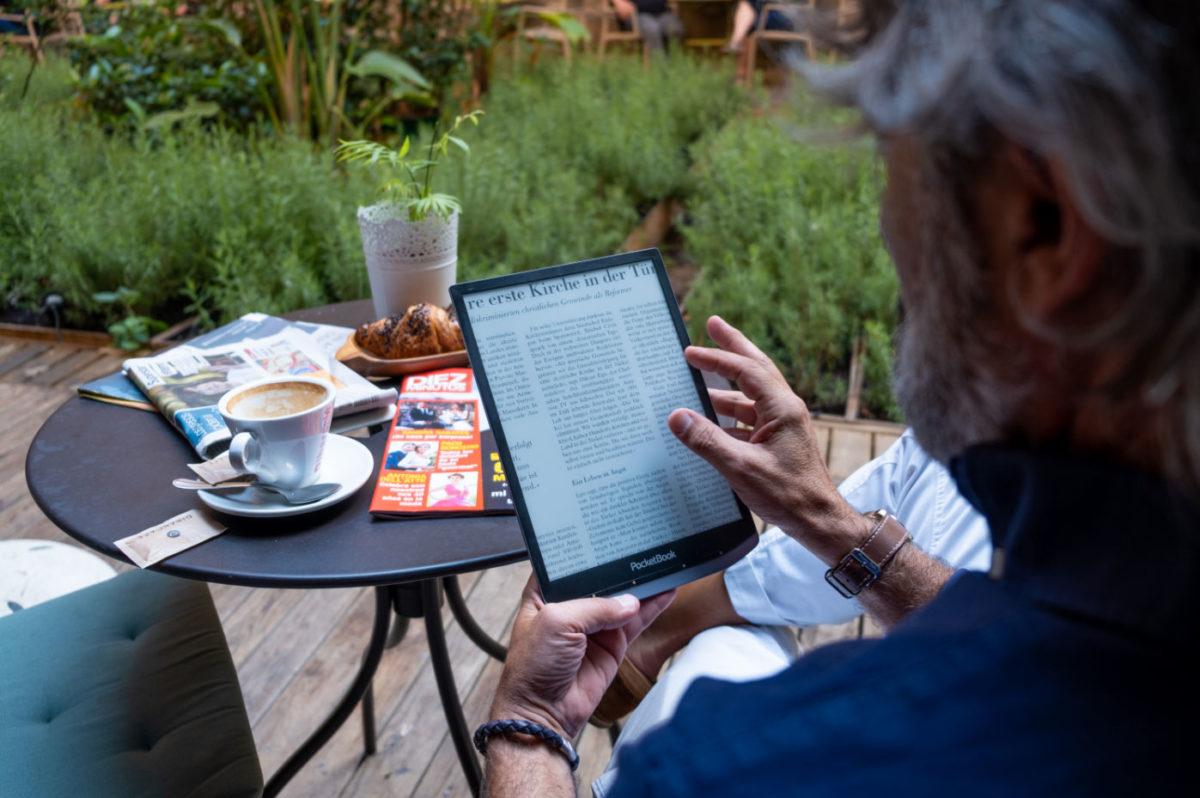 PocketBook InkPad X czytanie gazet i czasopism