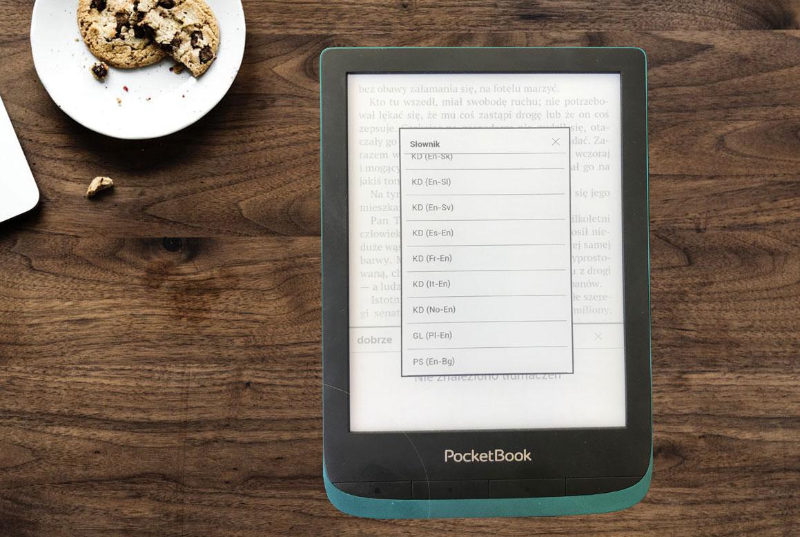 Słowniki dostępne na czytnikach pocketbook, doskonałe do nauki języków obcych.