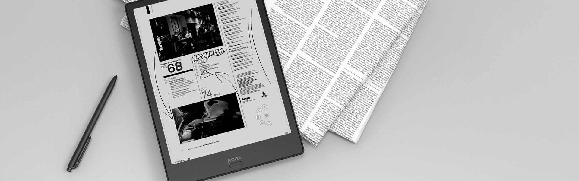 Onyx Boox Note 2 to doskonały czytnik do tworzenia elektronicznych notatek.