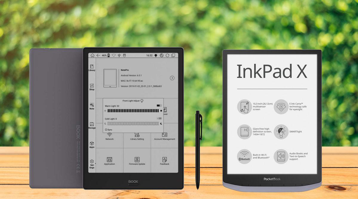 PocketBook InkPad X Onyx Boox Note Pro czytniki z ekranami 10-cali