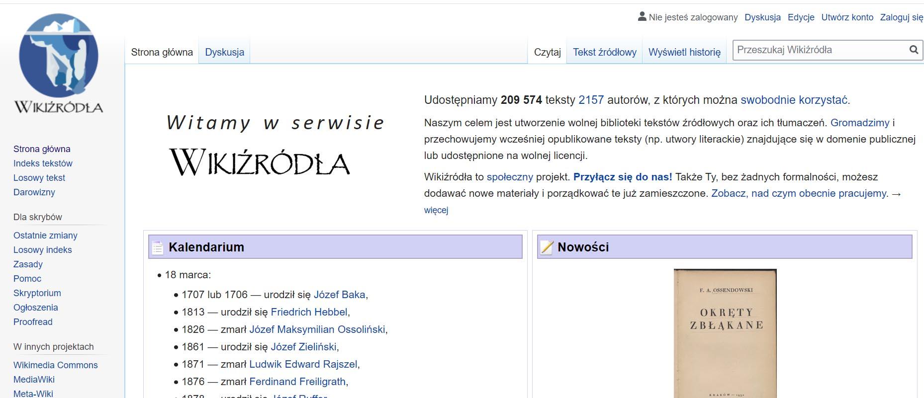 e-booki całkowicie za darmo na wikiźródla
