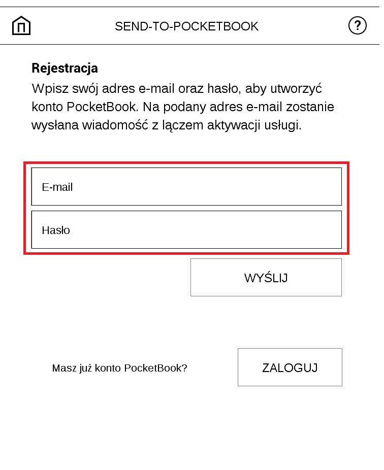 send to pocketbook rejestracja