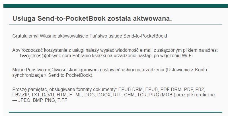 aktywacja rejestracja send-to-pocketbook
