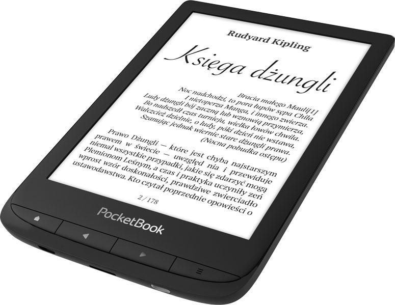 PocketBook Touch Lux 5 przyciski fizyczne i dotykowy ekran