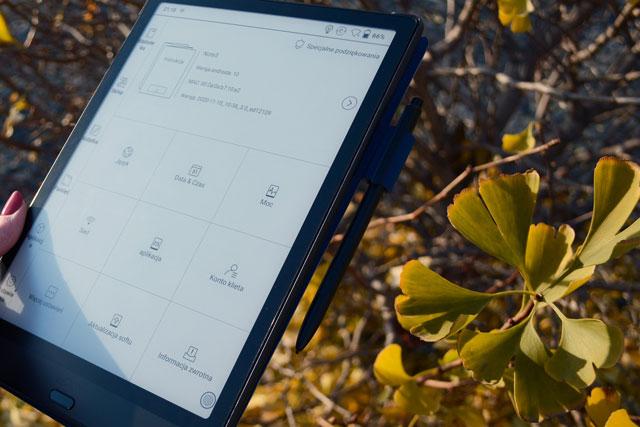 Czytnik e-booków Onyx Boox Note 3 ustawienia